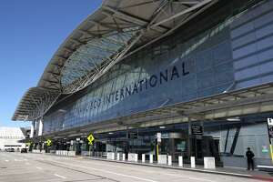 The road in front of the international terminal sits empty at San Francisco International Airport on April 02, 2020 in San Francisco, California. Due to a reduction of flights and people traveling, San Francisco International Airport has consolidated all of its terminals into one concourse in the international terminal.