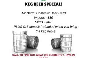 "Big Lou's Pizza, known as San Antonio's spot for super-sized slices, is offering kegs of beer in their to-go menu launched by COVID-19 shutdowns. The restaurant launched a beer keg special with a variety of options on Thursday. Customers can get half-barrels of domestic beer for $70 and imports for $80. There is also a ""slims"" option, which is a quarter barrel, for $40. Big Lou's is charging an additional $15 deposit, which will be refunded when the keg is returned."
