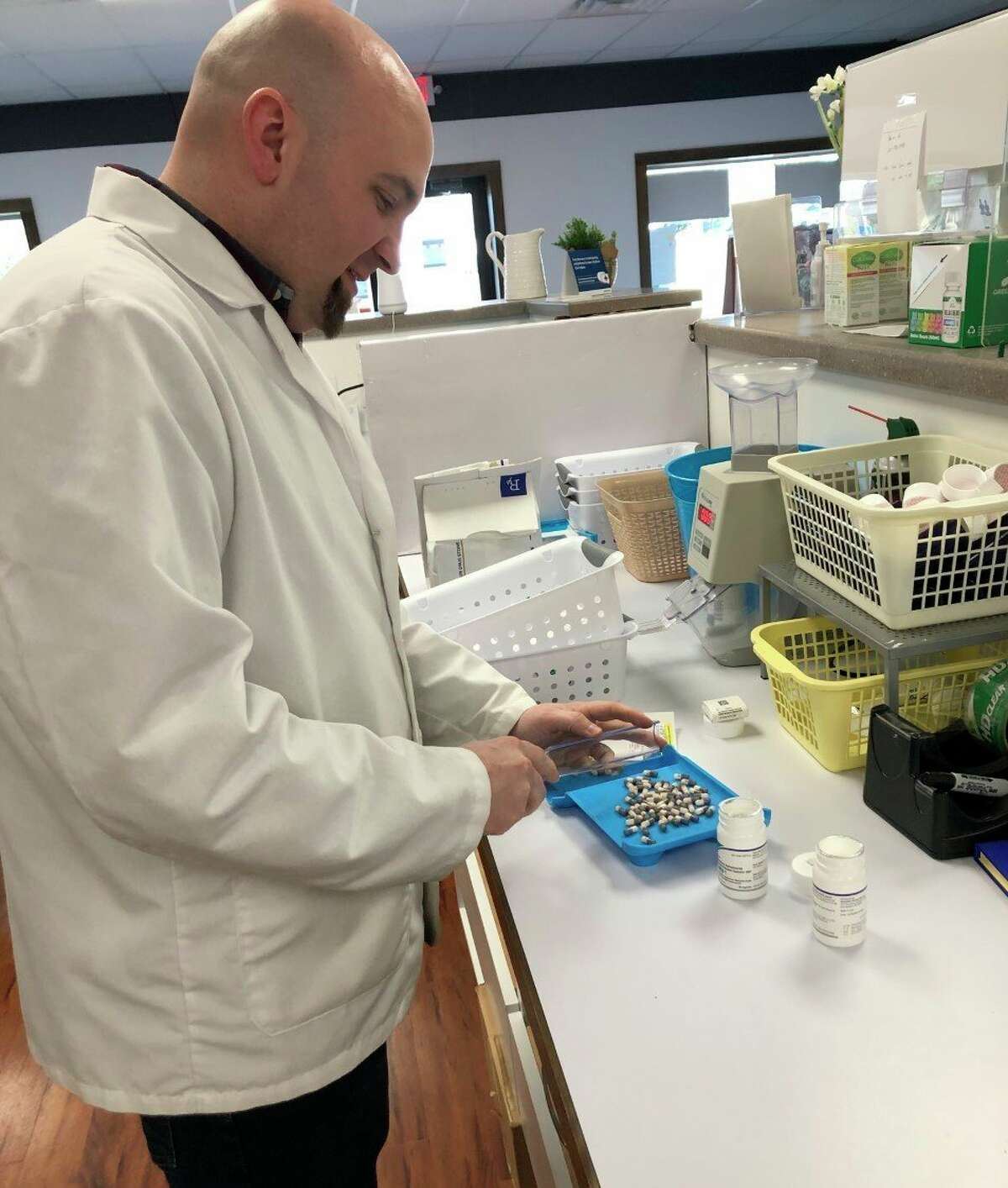 Pharmacist Brent Beemer said he takes extra safety precautions when he returns home after work including washing his clothes and taking a shower immediately. (Courtesy photo)