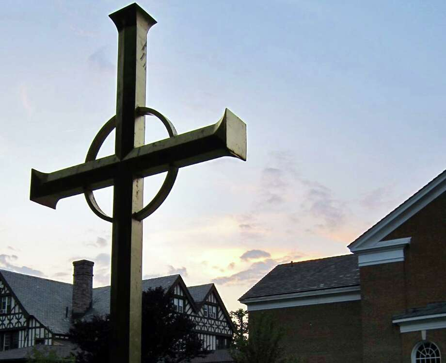 "Wilton Congregational Church is encouraging Christians to participate in a ""stay at home"" Easter event called #aCROSSthecountry. Photo: Chris Anderson /"