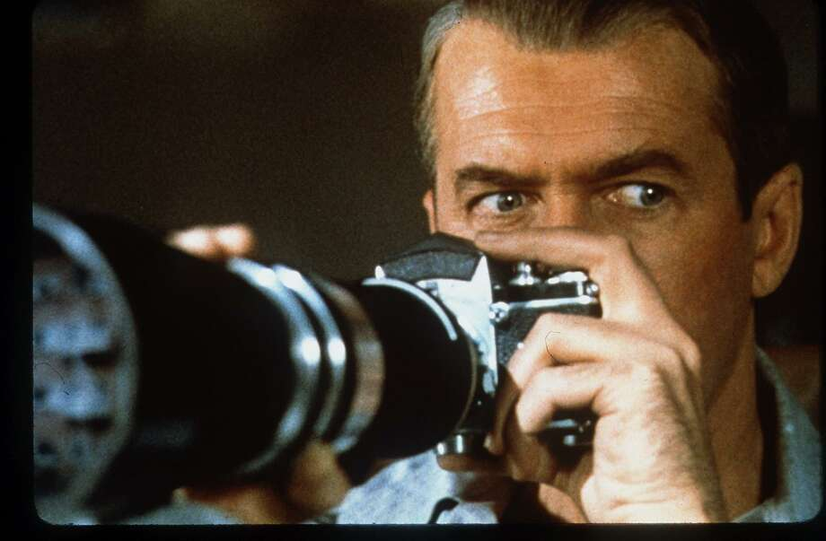 """Jimmy Stewart stars in Alfred Hitchcock's 1954 classic thriller """"Rear Window."""" Photo: File Photo"""