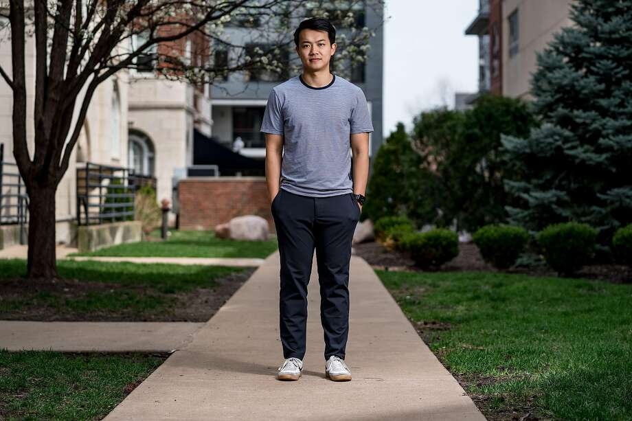 Michael Chen is a co-founder and CEO of WanderJuant, a short-term rental startup, which has had to lay off 56 people in the wake of cancellations because most travel has been shut down by the pandemic. Photo: Whitney Curtis / New York Times