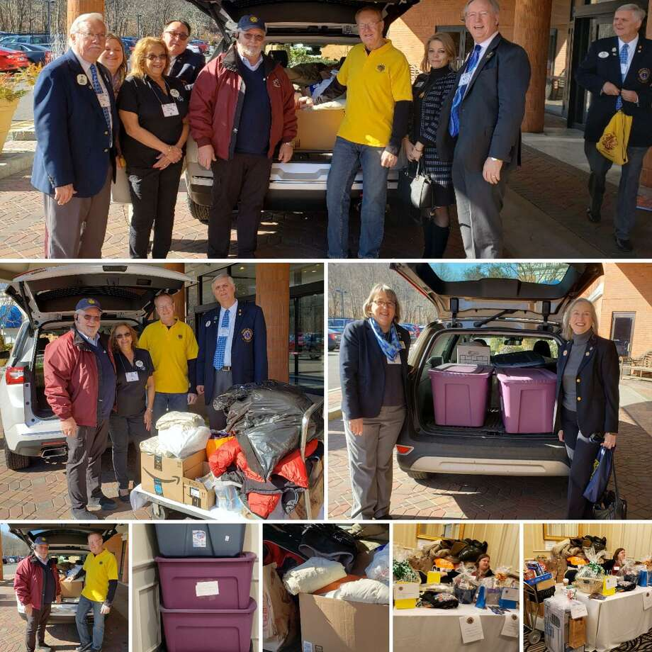 The Seymour Lions Club, along with fellow Lions across the state, recently delivered carloads of clothing and everyday essentials to homeless, female veterans trying to get back on their feet. Photo: Contributed Photo