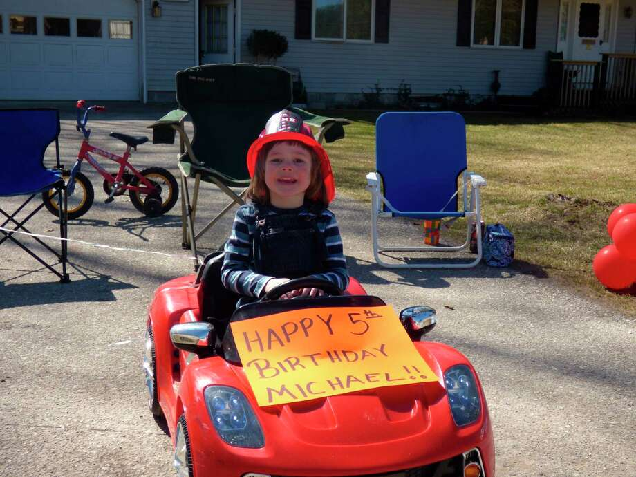 Arcadia resident, Michael enjoys his 5th birthday during the current state of emergency. (Scott Fraley/News Advocate)