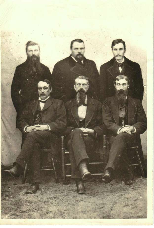 Frankfort's leading movers and shakers about 1880. Top row (L to R), John Collins, Charles Voorheis, Albert Banks. Bottom row, Abram Butler, Charles Collier, Dr. Taylor. (Courtesy Photo)