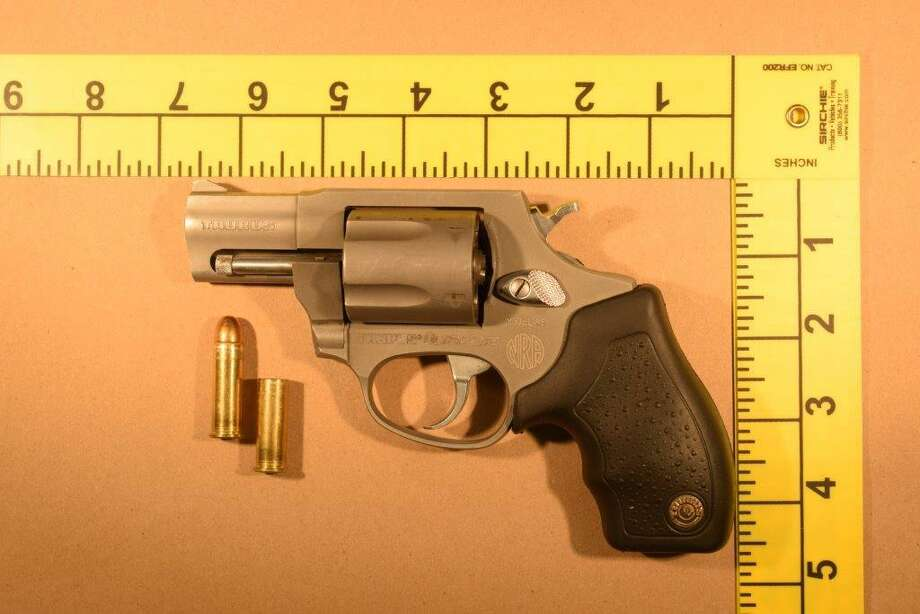 A Taurus revolver found by police dogs near the scene of a shots fired call on Connecticut Avenue on Stamford's West Side on April 2, 2020. Photo: Stamford Police Department / Contributed