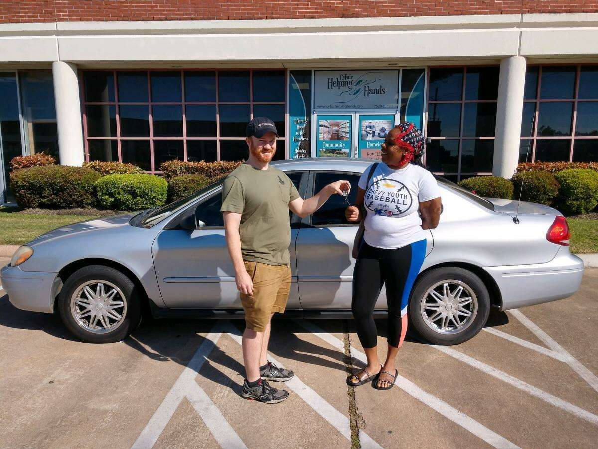 Cy-Fair Helping Hands was able to provide a car for a client after she was laid off from her job due to COVID-19.