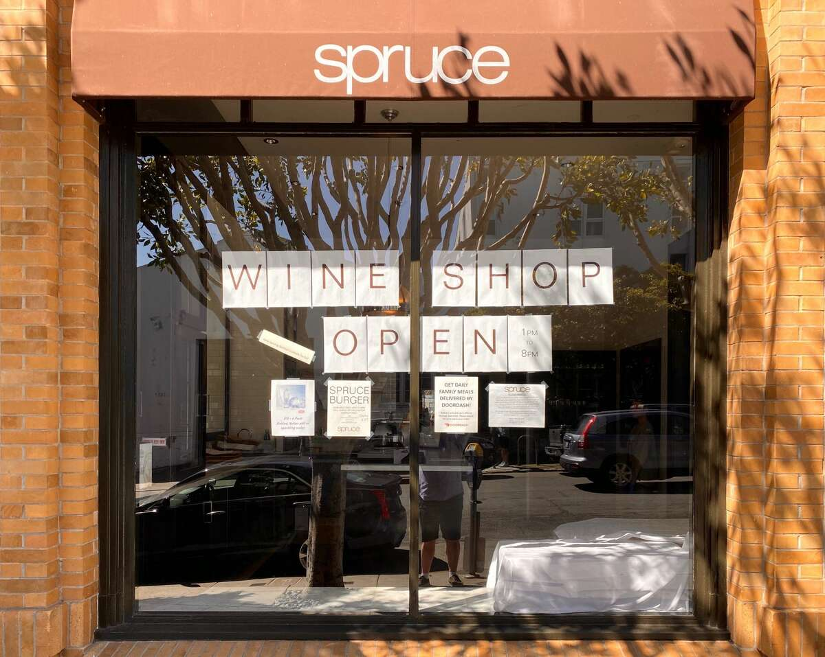 San Francisco's Michelin star restaurant, Spruce, has transformed its dining room into a wine shop.
