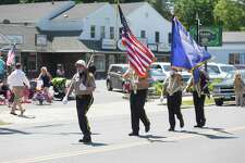 Bethel's Veterans of Foreign Wars are led by Steve Fako during the Bethel Memorial Day Parade in Bethel, Conn. on Sunday, May 21.