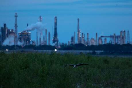Oil refineries near Norco, La., Oct. 18, 2018. The Green New Deal calls on the federal government to wean the United States from fossil fuels.