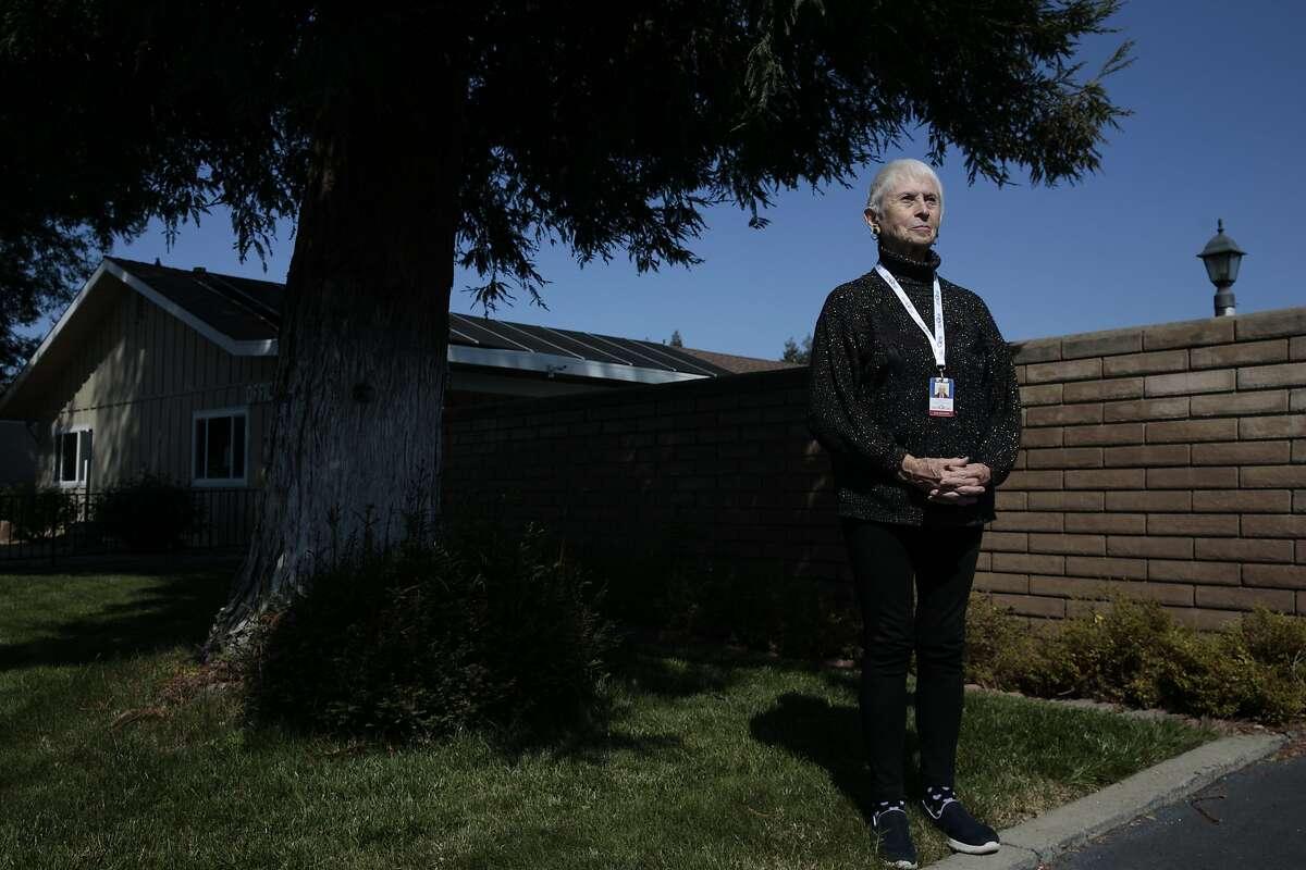 A portrait of Elizabeth Pecoraro outside her boyfriend�s home on Friday, April 3, 2020, in San Jose, Calif.