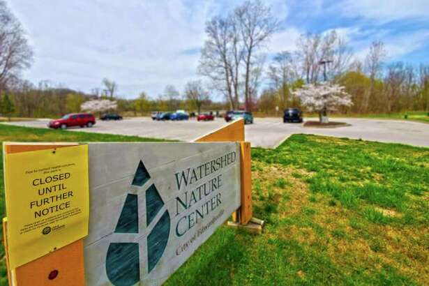 Although the Watershed Nature Center in Edwardsville is closed to the public until further notice, it was business as usual for its inhabitants Friday. Along with wildlife, some people chose to spend time at the center as well.