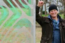 Passages, created by Norwalk-based artist, Thomas S. Berntsen, is a series of seven, eight-foot-tall panels that meander along a path in the center of the Hannan-Eberstadt Preserve.