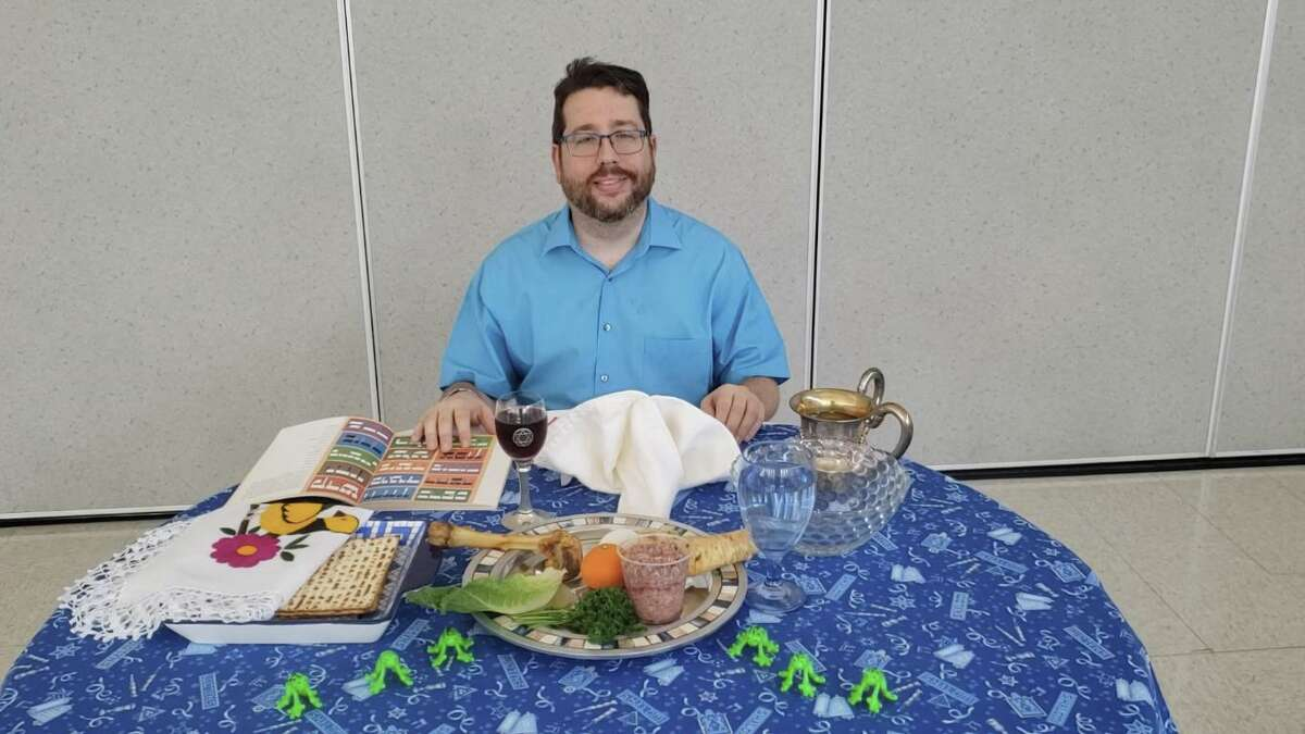 For many across the Houston area this year because of COVID-19, Easter and Passover celebrations will look different. Many churches and synagogues are preparing to have virtual services. Here, Rabbi Gideon Estes of Congregation Or Ami in west Houston, shows how a Seder for one can be possible.