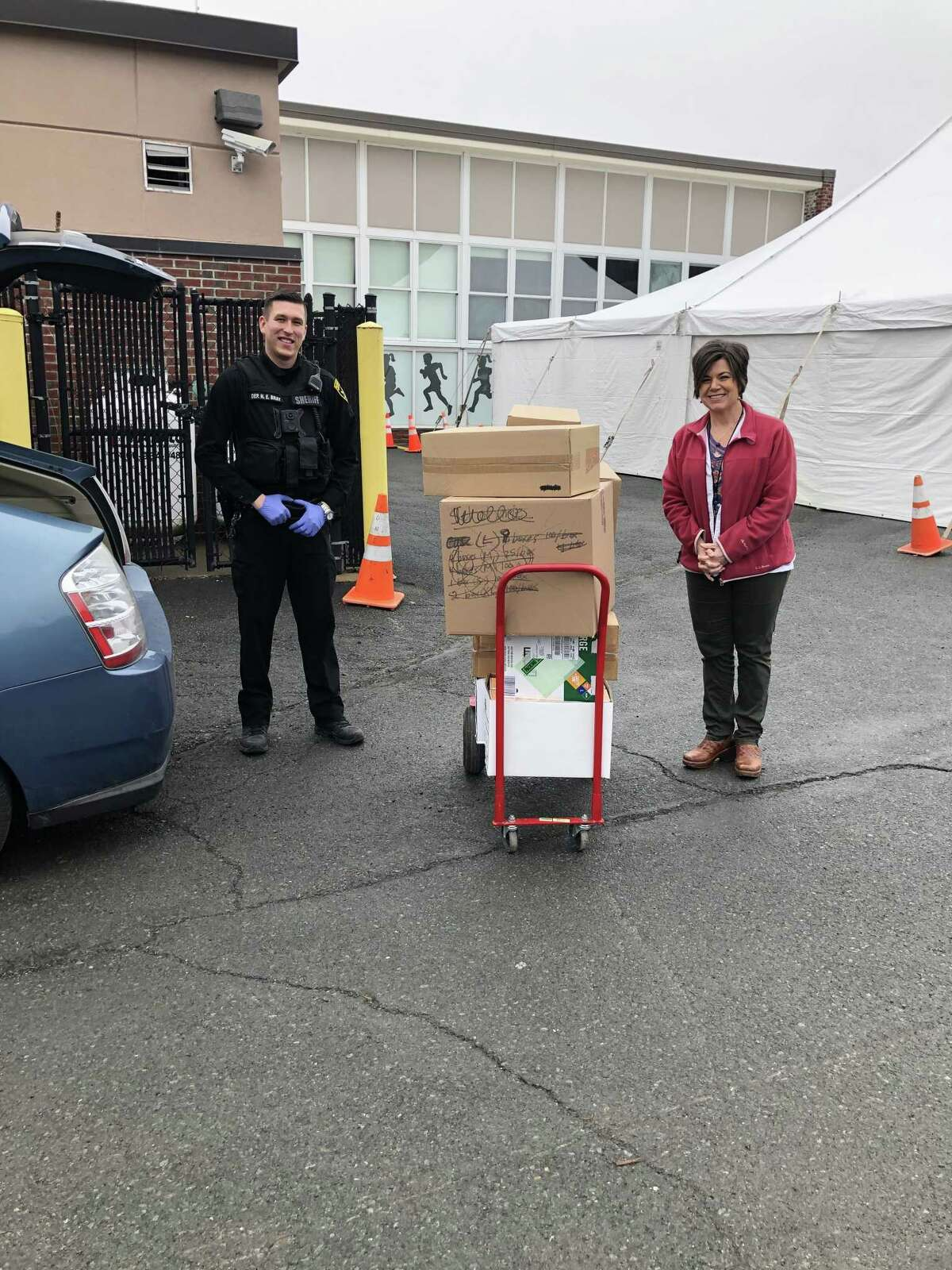 Capital Region BOCES in partnership with numerous Albany area schools provided much-needed supplies to those doing battle with the COVID-19 pandemic. (Photo provided)