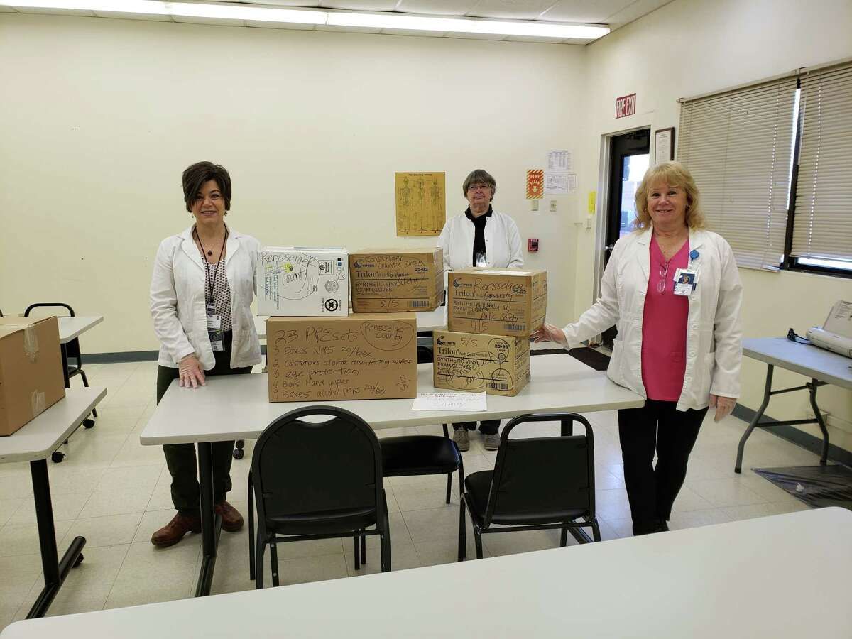Capital Region BOCES in partnership with numerous Albany area schools provided much-needed supplies to those doing battle with the COVID-19 pandemic (Photo provided)