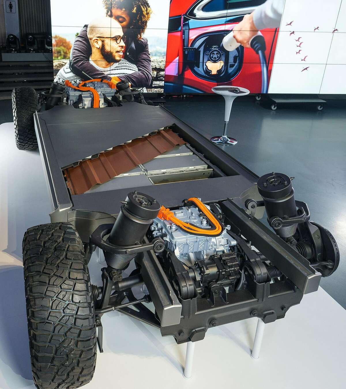 General Motors reveals its all-new modular platform and battery system, Ultium, Wednesday, March 4, 2020 at the Design Dome on the GM Tech Center campus in Warren, Michigan. (Steve Fecht/General Motors/TNS)