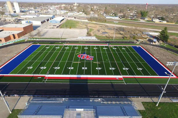 """The artificial turf field at Carlinville High School will be ready for use Monday after the community project """"All Cavies on Turf"""" raised the funds and provided labor producing the South Central Conference's first turf field."""