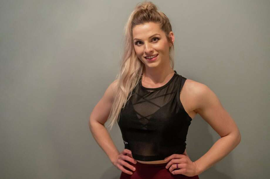 Personal trainer Amanda Kneupper gives exercise tips that you can do at home to stay in shape. Photo made on March 27, 2020. Fran Ruchalski/The Enterprise Photo: Fran Ruchalski, The Enterprise / Staff Photographer / © 2020 The Beaumont Enterprise