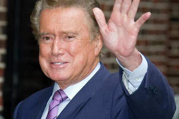 """FILE - In this June 11, 2009 file photo, talk show host Regis Philbin arrives for a taping of """"The Late Show with David Letterman"""" in New York. (AP Photo/Charles Sykes, file)"""