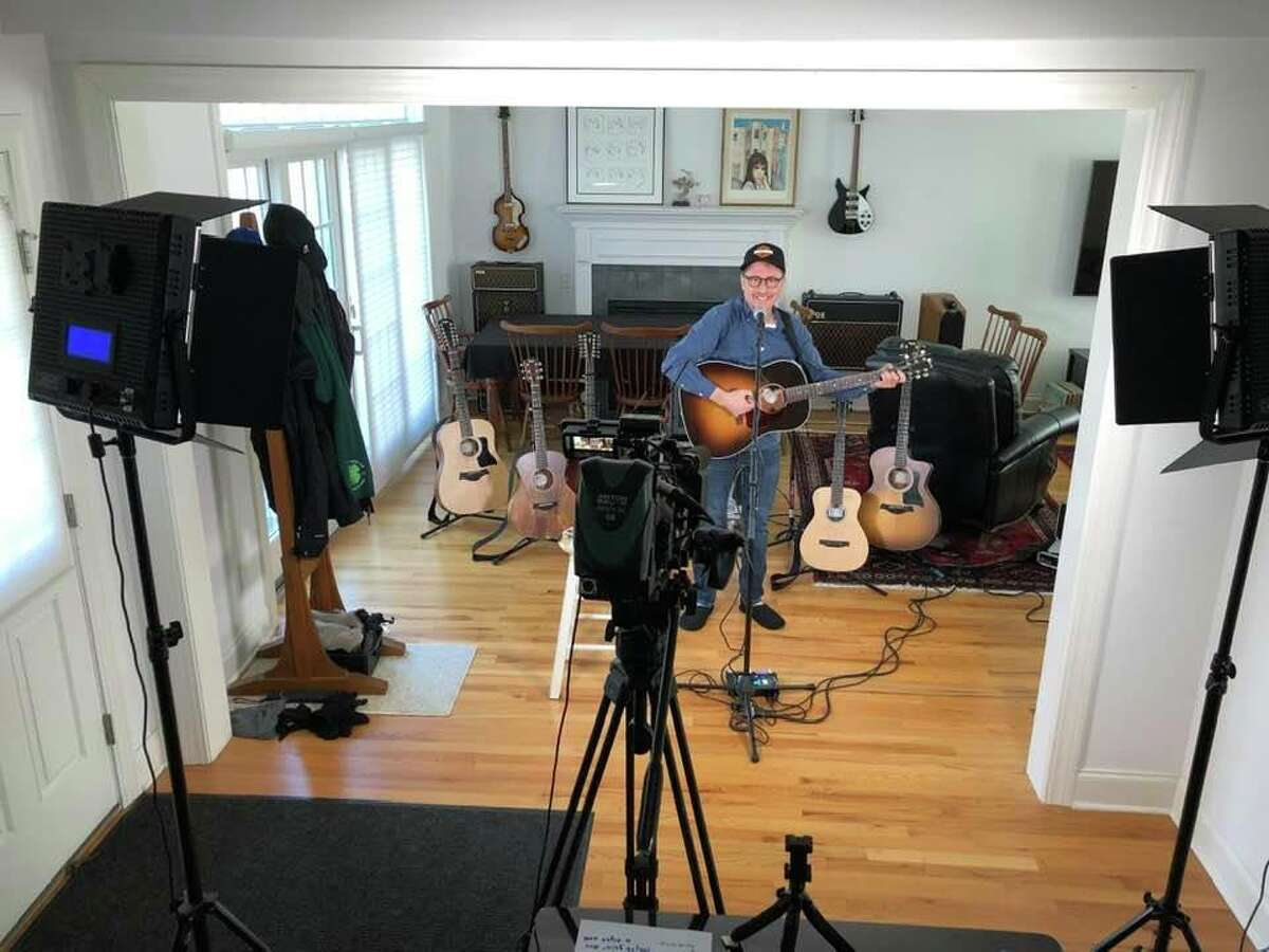 Singer-songwriter Rick Bedrosian performs a solo show at 7 p.m. tonight, part of his weekly Home Alone Concert Series.