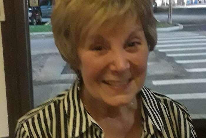 Retired nurse Stephanie Paulmeno