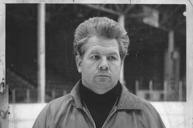 RPI Hockey Coach Mike Addesa poses for photo. March 06, Undated (Times Union Archive)