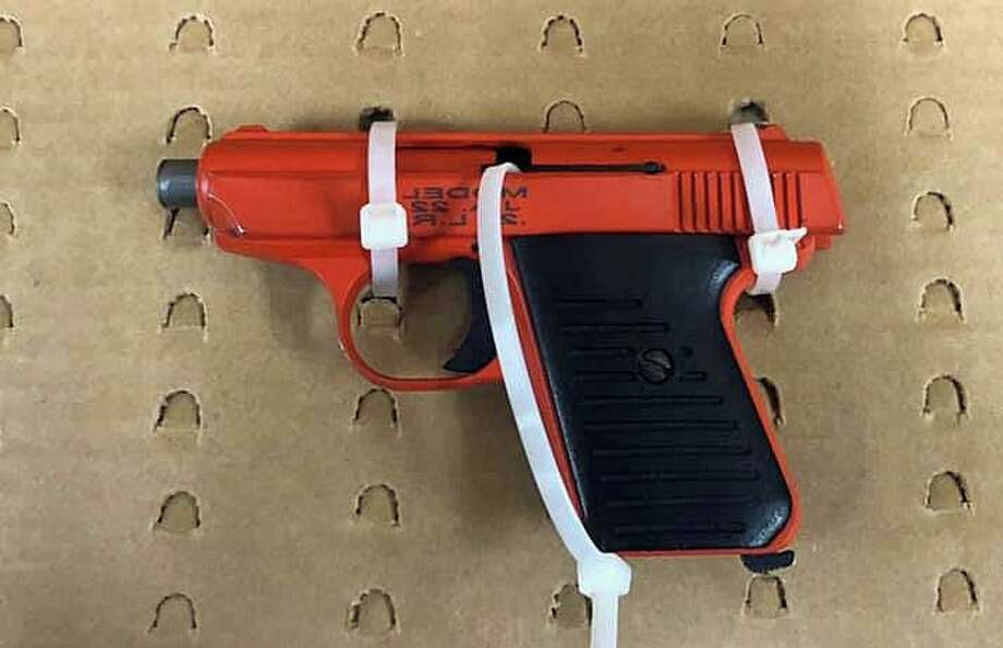 One of the guns seized from the Springfield, Mass., man during an investigation in Milford, Conn., on April, 3, 2020. Photo: Contributed Photo / Connecticut State Police