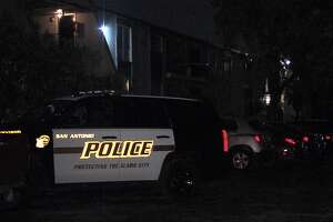 San Antonio police investigate a shooting on the Northwest Side on Sunday, April 5, 2020.