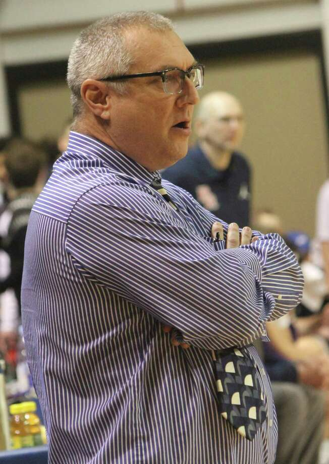 Morley Stanwood coach Bob Raven watches the action during a basketball game this season. (Pioneer photo file)