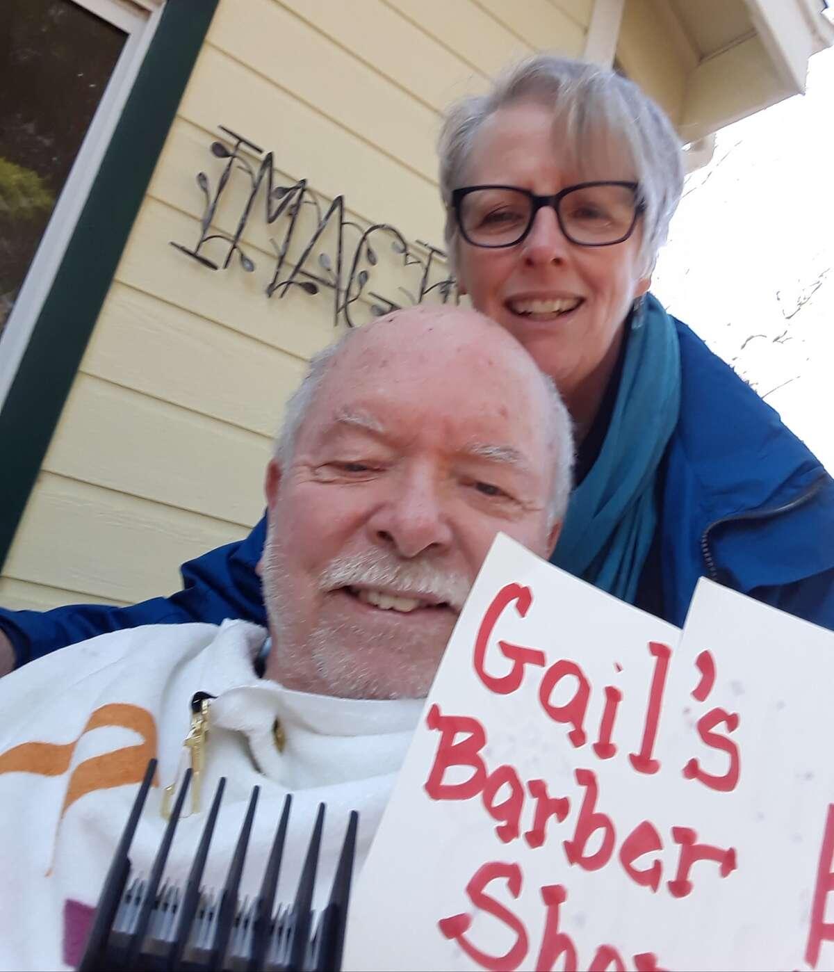 """My husband and I set up our own barber shop/salon!"" said Gail VanTassell."