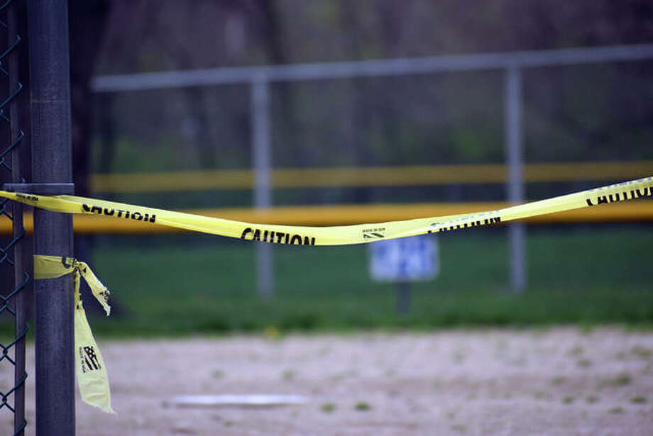 Hoppe Park sits empty Sunday afternoon in Edwardsville. Photo: Matt Kamp The Intelligencer