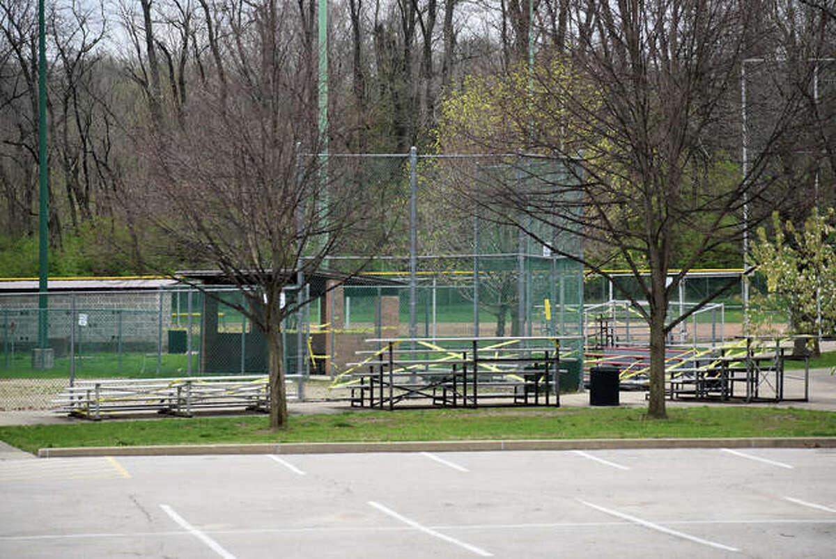 Hoppe Park sits empty Sunday afternoon in Edwardsville.