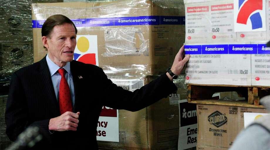 U.S. Sen. Richard Blumenthal Photo: Matthew Brown / Hearst Connecticut Media / Stamford Advocate
