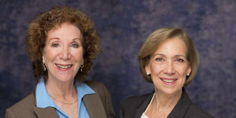Attorneys Lyn Eliovson, left, and Christine Tenore are offering drive-up legal services for the elderly during the coronavirus pandemic. Photo: Contributed Photo