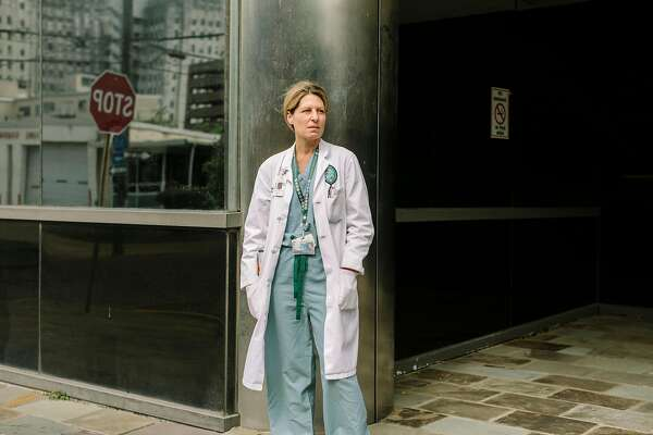 Geraldine MŽnard, chief of general internal medicine at Tulane Medical Center in New Orleans, April 3, 2020. Inconsistent protocols, limited resources and a patchwork of decision-making has led to an undercounting of people with the coronavirus who have died, health experts say. (William Widmer/The New York Times)