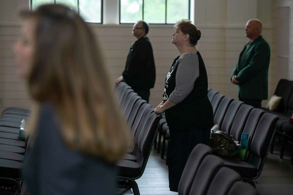 More than 40 worshippers gathered at First Baptist Church of Sutherland Springs on Sunday. Church is a place of solace for many, but during a pandemic the best way to protect one another is to worship at home.