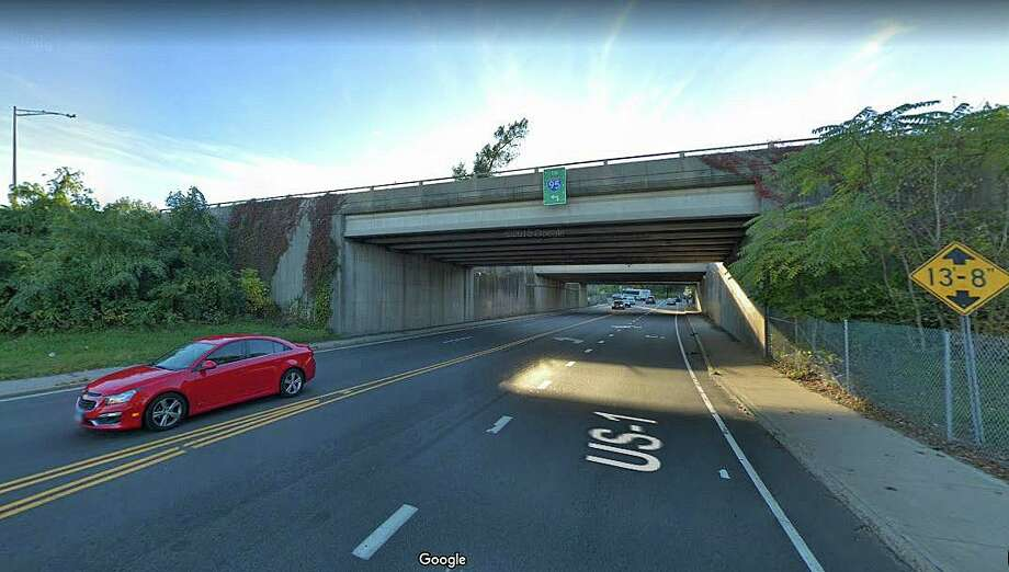 Repairs to a northbound bridge on Route 7 will cause some lane closures later this month. The project consists of deck repairs to the bridge over Route 1 (Belden Avenue) in Norwalk. This project is scheduled to occur the morning of Thursday, April 16, to the afternoon of Thursday, April 23, 2020. Photo: Google Street View Image