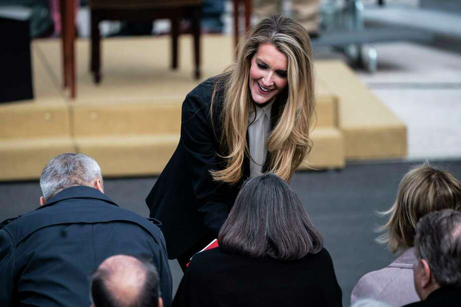 Sen. Kelly Loeffler, R-Ga., talks to others before President Trump participates in a signing ceremony for the United States-Mexico-Canada Trade Agreement on the South Lawn of the White House on Jan 29, 2020 in Washington, D.C. Photo: Washington Post Photo By Jabin Botsford. / The Washington Post
