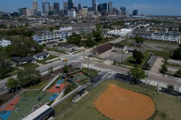 Emancipation Park sits empty as the stay-at-home order remains in place to prevent the further spread of the COVID-19 virus.