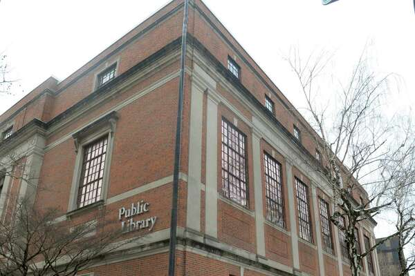 Burroughs-Saden Library, the main branch of Bridgeport Public Library on 925 Broad St. in Bridgeport, Conn. on Wednesday, Feb. 10, 2016. The Bridgeport History Center, part of the library system, is seeking diaries from Connecticut residents about the COVID-19 pandemic.