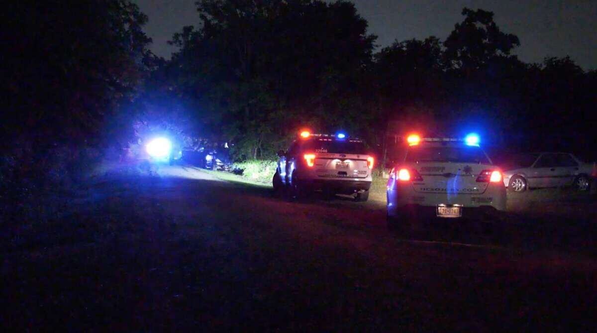 Harris County Sheriff's Office deputies investigate a deadly shooting on West Riley Road on Monday, April 6, 2020.