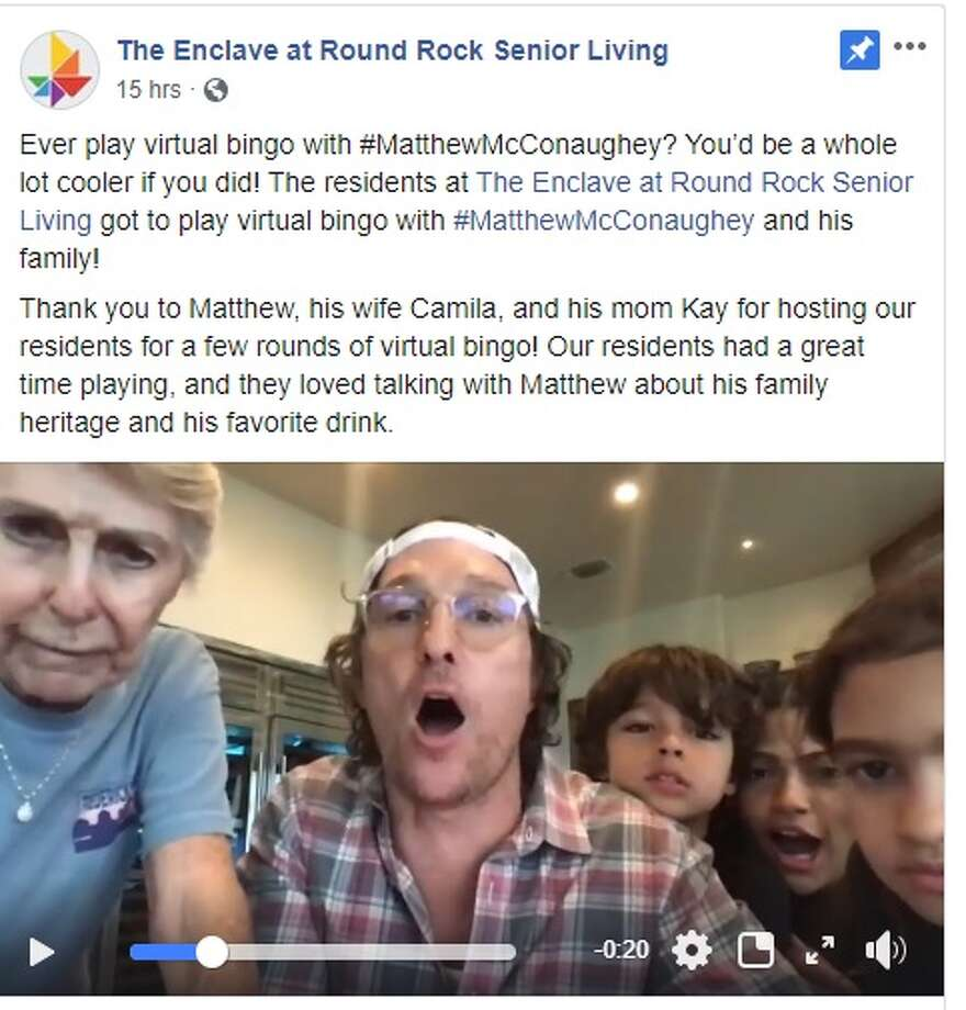 Matthew McConaughey brought some weekend fun to The Enclave at Round Rock Senior Living Center over the weekend. Photo: The Enclave/Facebook