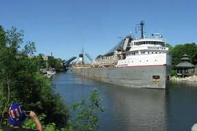 """""""The Manistee arriving during the Forest Festival parade in July 2014."""" Photo submitted by Mike Lanski"""