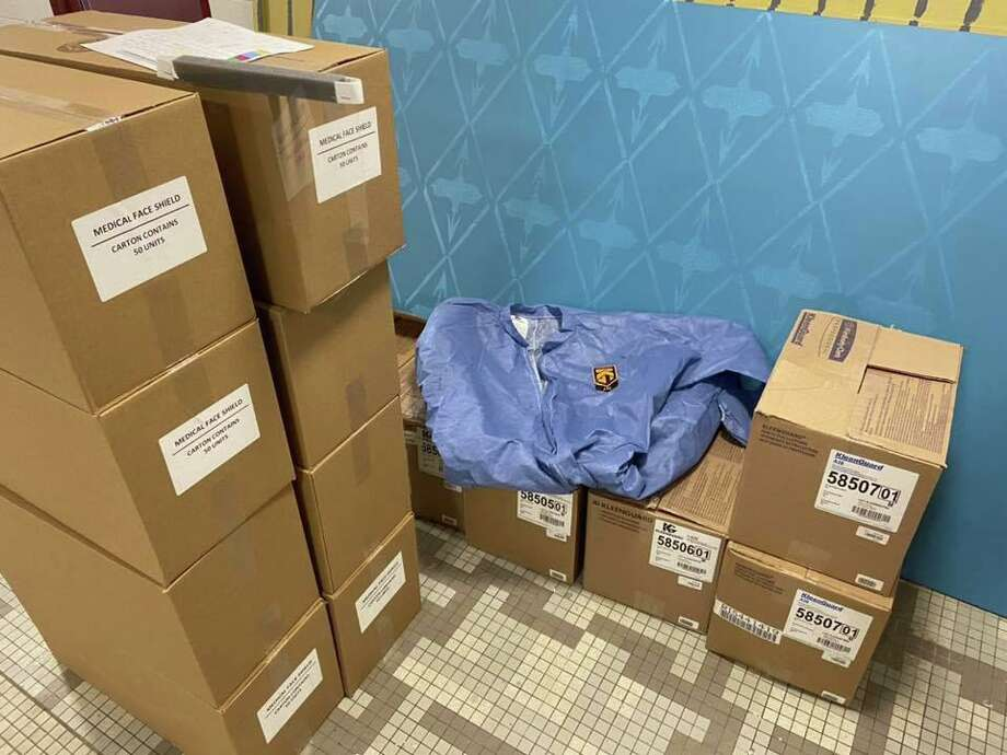 Bethel has received 500 medical face shields and 275 protective coveralls for local first responders. Photo: Contributed Photo/Bethel Emergency Management & Fire Marshal Facebook Page / Contributed / The News-Times Contributed