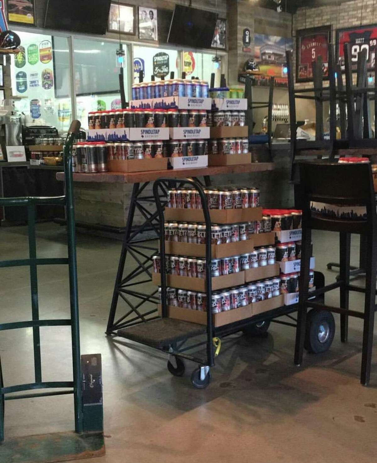 HopDrop, Houston's craft beer delivery service, picked up more than 20 cases of beer from Spindletap Brewery last weekend.