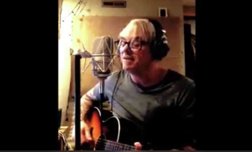 A screenshot of Steve Candlen's cover of an Animals tune in the city of Albany's #CapitalCovers challenge