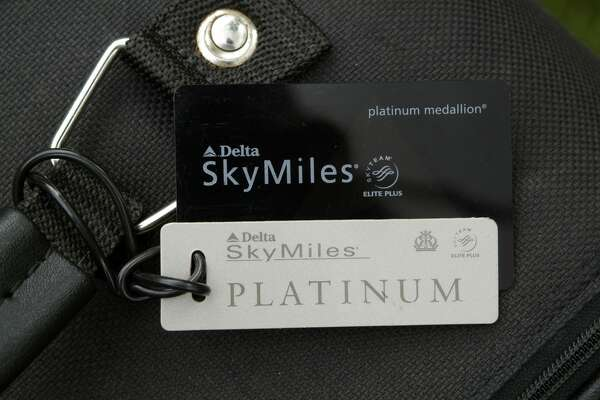 Frequent Flyer Baggage Tag. Luggage Identity Label. (Photo by: myLoupe/Universal Images Group via Getty Images)