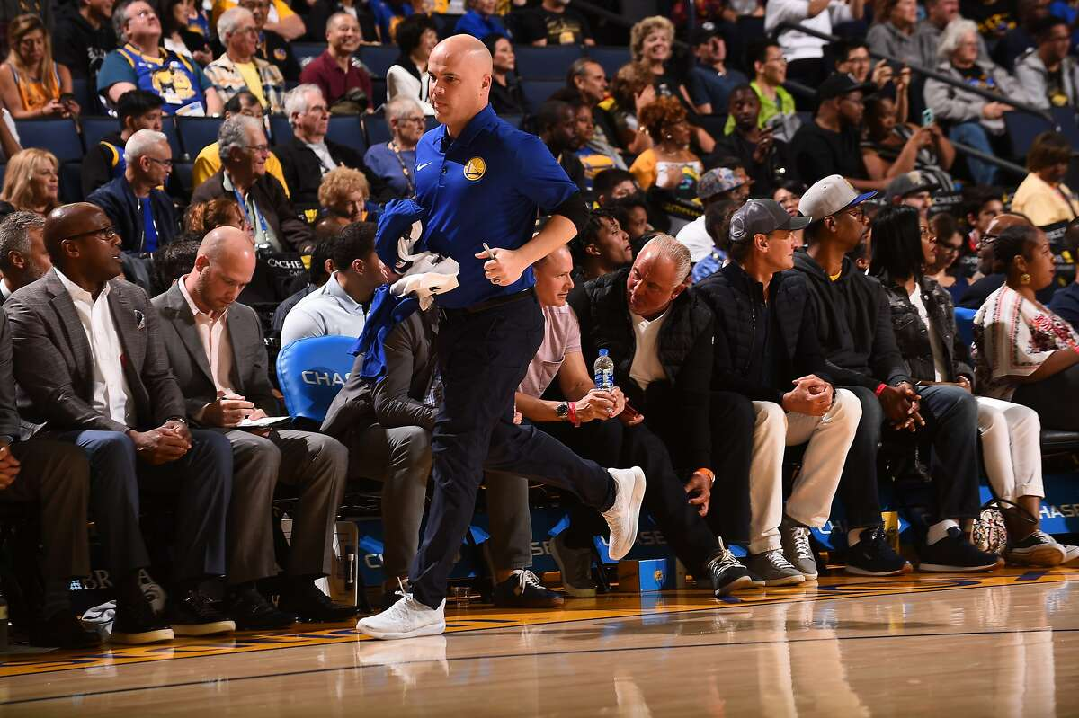 Warriors director of team operations Eric Housen has a wide range of responsibilities. During the NBA shutdown, he has tracked down gear so players can continue to work out.