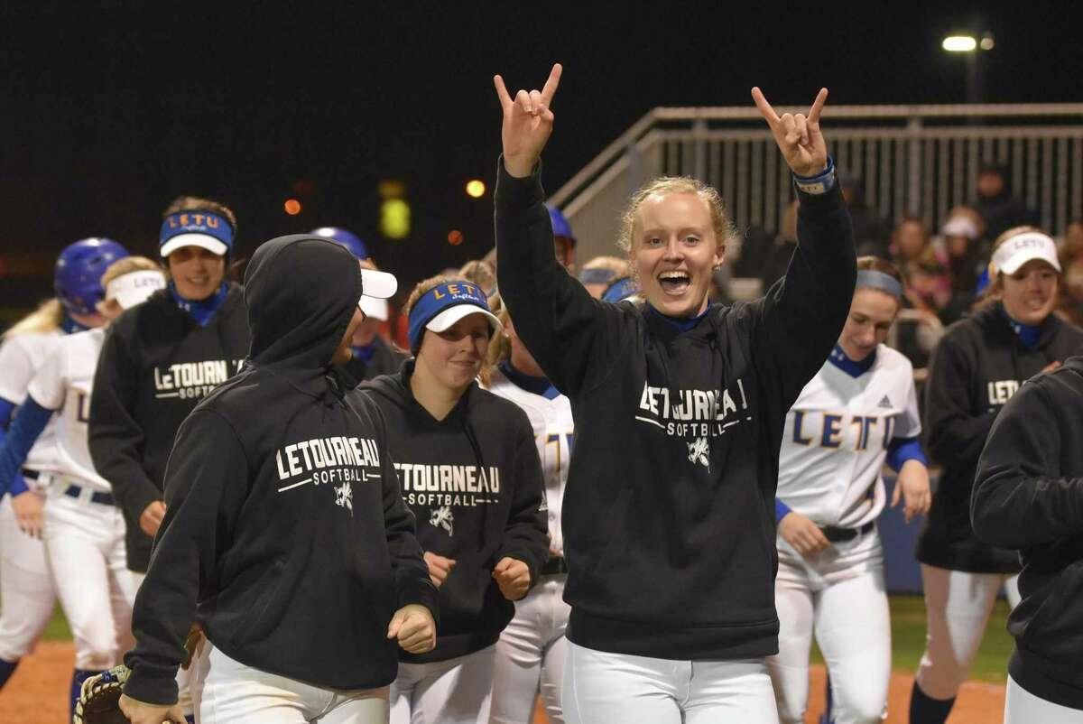 LeTourneau softball player and Conroe High School grad Madelyn Tannery.